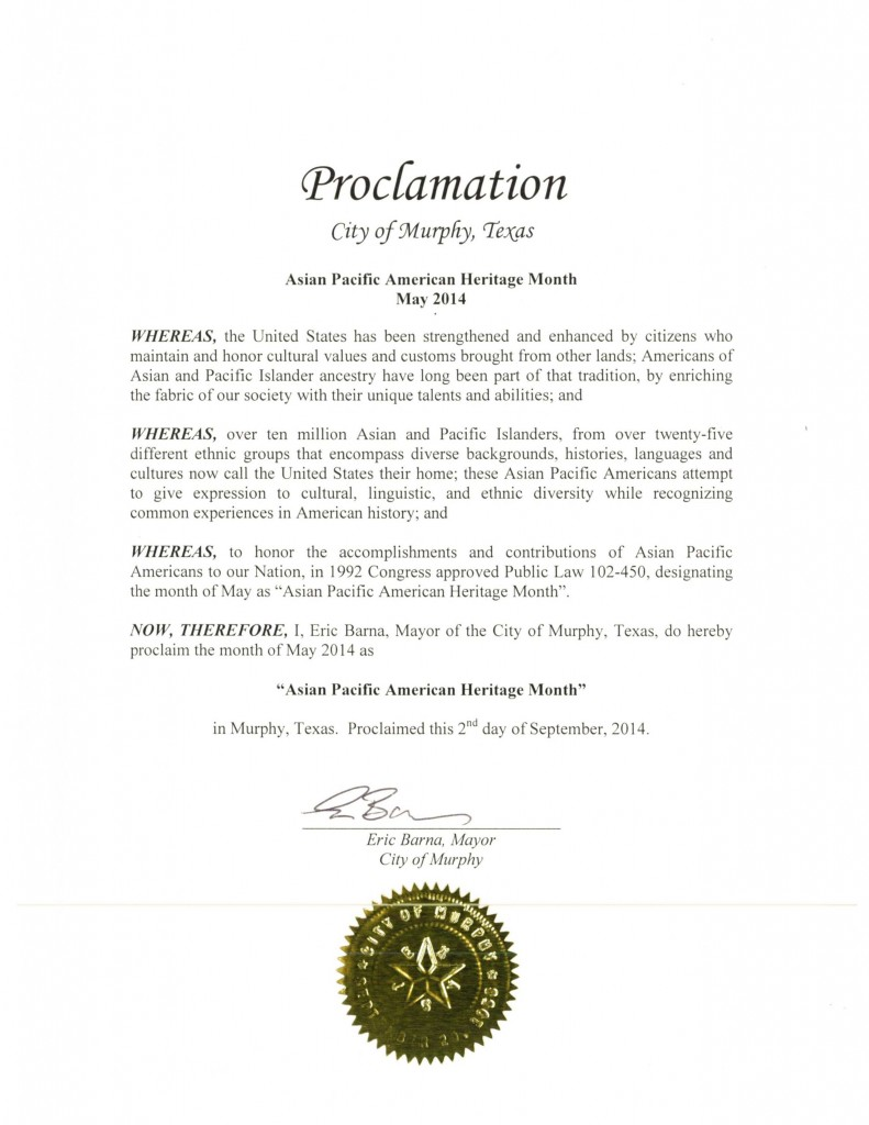 DFW AACC Proclamations_2014_Murphy