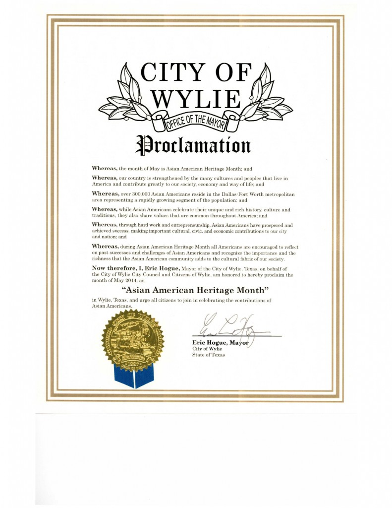 DFW AACC Proclamations_2014_Wylie